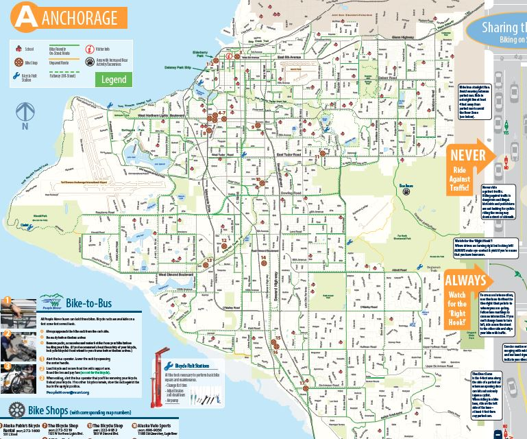 Map Of Anchorage Bike to Work Day