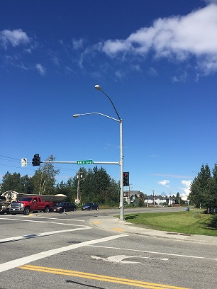Metal Light Poles Along A Roadway Intersection Or Sidewalk Are Typically Maintained By The Munility Of Anchorage Street Maintenance