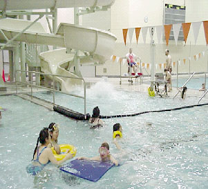 West pool for Citywide aquatics division swimming pool slide