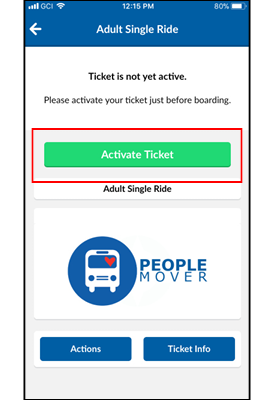 Mobile Ticket Activation Image